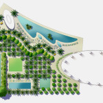 18 - Architectural Rendering - Watercolor Site Plan - Mozart, France