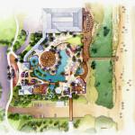 19 - Watercolor Site Plan Rendering - Centex Destination Properties