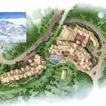 2 - Watercolor Site Plan Rendering - Marriott Vacation Club