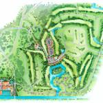 20 - Watercolor Site Plan Architectural Rendering - Centex Destination Properties