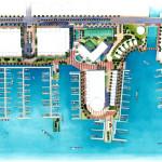 26 - Watercolor Site Plan Rendering - Shipyards Harbor