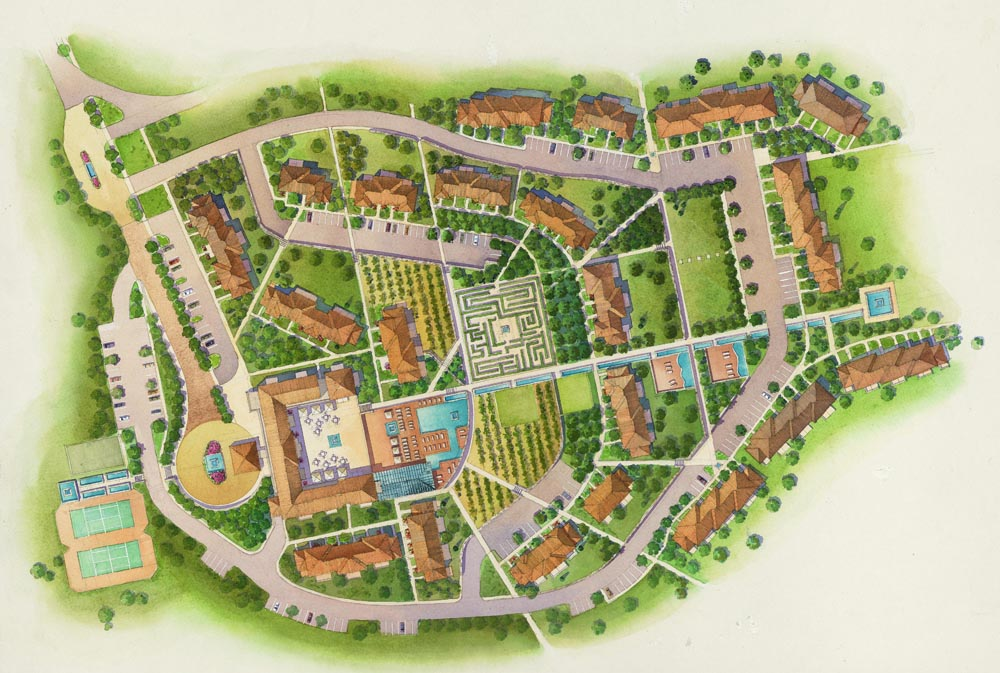 Site Plan Renderings – Rendered Site Plan