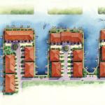 3 - Watercolor Site Plan Rendering - Robert Aude Associates
