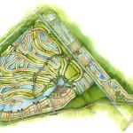 30 - Watercolor Site Plan Rendering - Kolter Communities