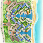 31 - Architectural Rendering - Watercolor Site Plan - Starwood Resorts