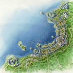 4 - Watercolor Site Plan Rendering - Eric Kuhne Associates + Civic Arts