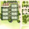 5 - Watercolor Site Plan Rendering - Borges + Associates