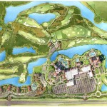 7 - Watercolor Site Plan Architectural Rendering - Marriott Vacation Club