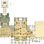 1 - Watercolor Rendered Floor Plan - Ed Cox Interiors