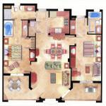 10 - Watercolor Floor Plan Rendering - Hill