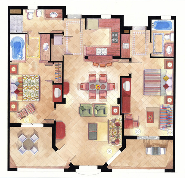 watercolor house plans
