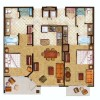 11 - Pen and Ink Watercolor Rendered Floor Plan - Starwood