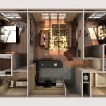13 - Architectural Renderings - Digital Cutaway Rendered Floor Plan - CGHJ Architects