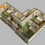 4 - Digital Cutaway View Rendered Floor Plan - MLB Creative
