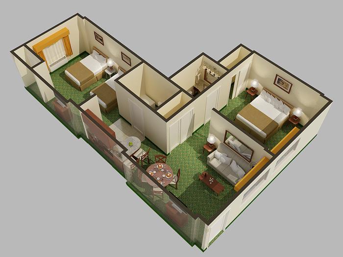 4 digital cutaway view rendered floor plan mlb