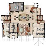 5 - Ink and Watercolor Rendered Floor Plan - WCI Communities