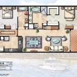 7 - Rendered Watercolor Floor Plan - Ginn Co