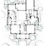 9 - Pen and Ink Rendered Floor Plan - Landmar