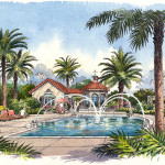 32 - Pen and Ink Architectural Renderings - Windsong Winter Park