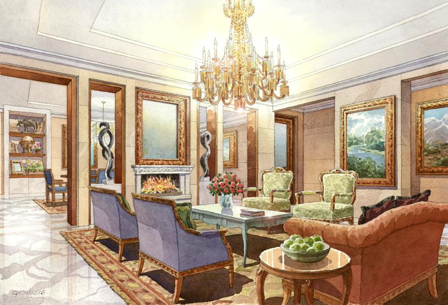 2 Interior Renderings Dlf Ltd Genesis Studios