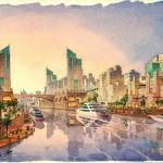2 - Architectural Renderings - Loose - Arabian Canal
