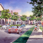 20 - Watercolor Architectural Rendering - Loose - Forum Architects