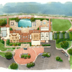 24 - Loose Watercolor Site Plan Rendering - DAG Architects