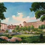 25 - Loose Watercolor Architectural Renderings - Star Island Development