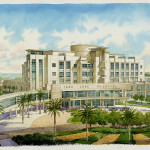 32 - Watercolor Architectural Rendering - Loose - HKS Architects